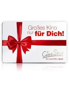 """Geschenkkarte """"Großes Kino für Dich"""""""